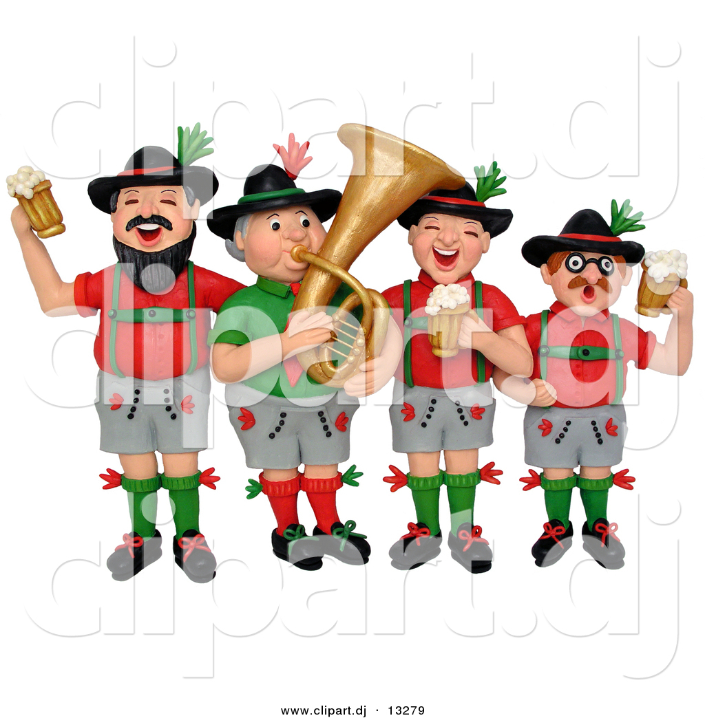 3d Clipart of a Cartoon German Oktoberfest Band by Amy Vangsgard ...