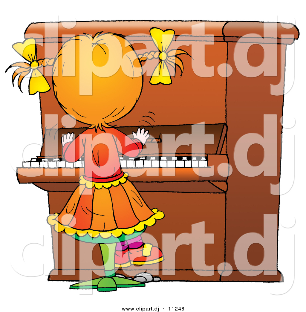 Girl Playing Clipart Clipart of a Cartoon Girl