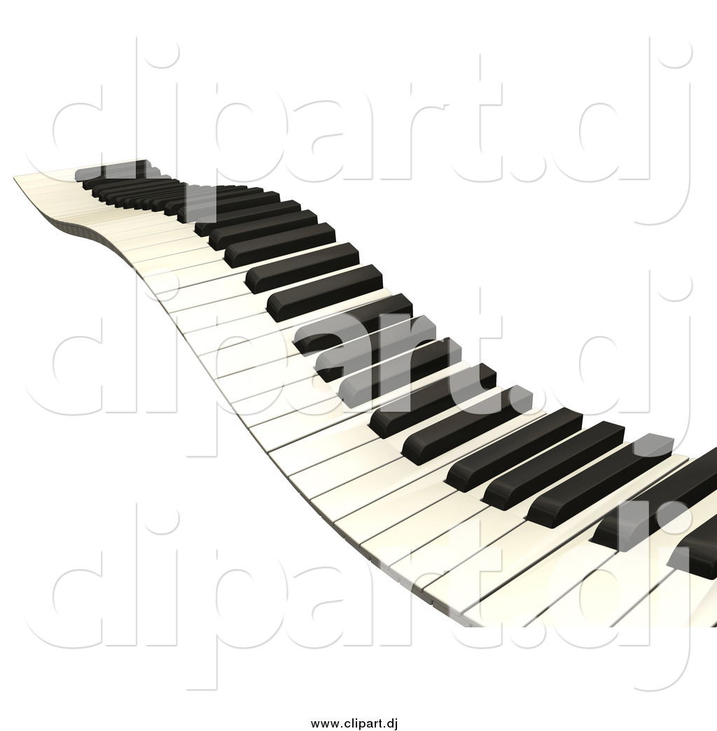 Clipart of a Wavy Keyboard by KJ Pargeter - #10961