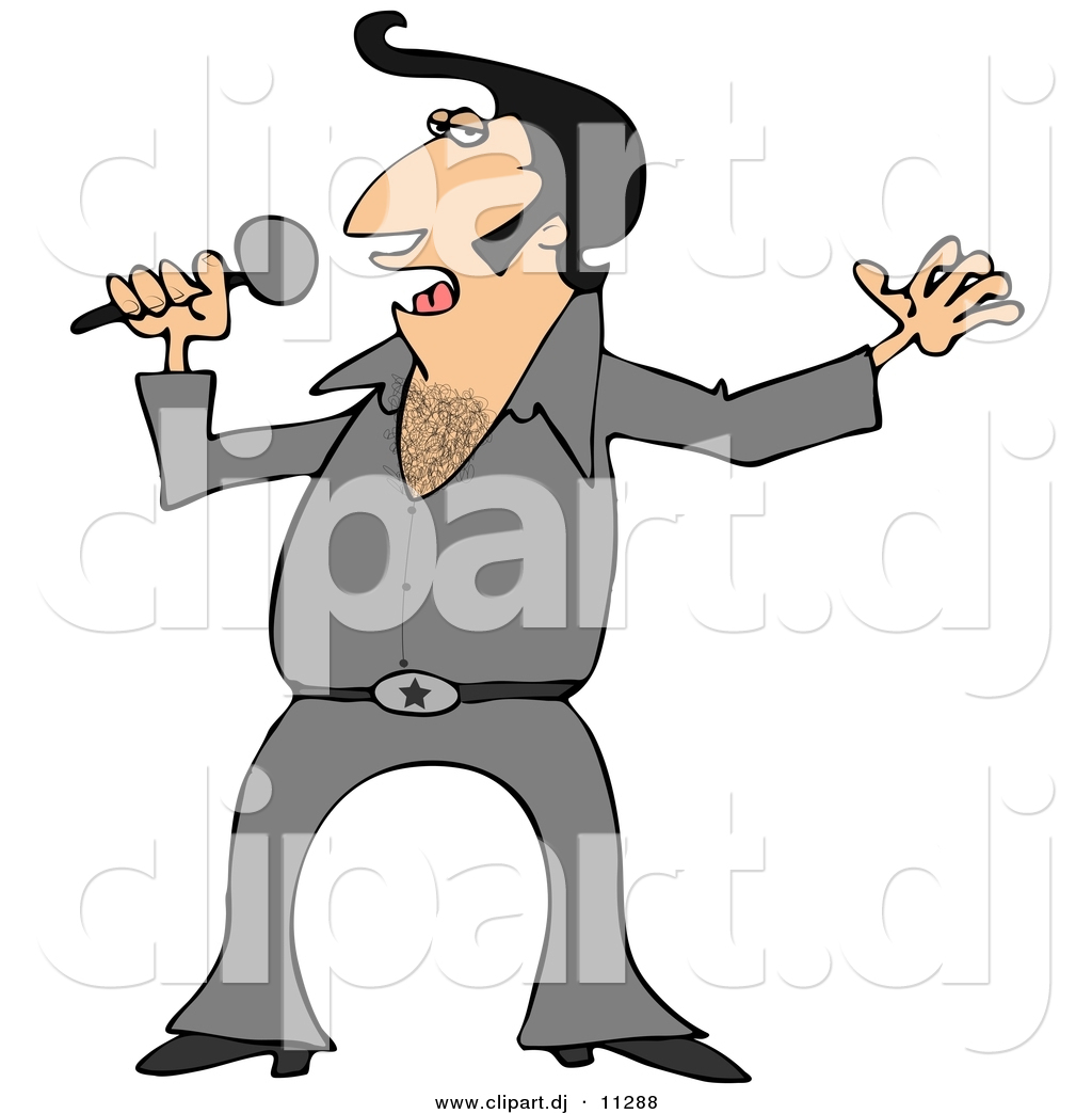 - vector-clipart-of-a-cartoon-elvis-impersonator-singing-with-mic-by-dennis-cox-11288