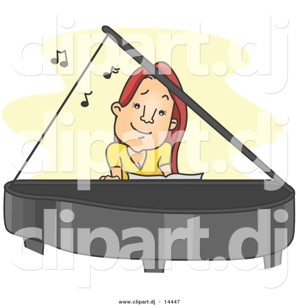 clipart girl playing piano - photo #28