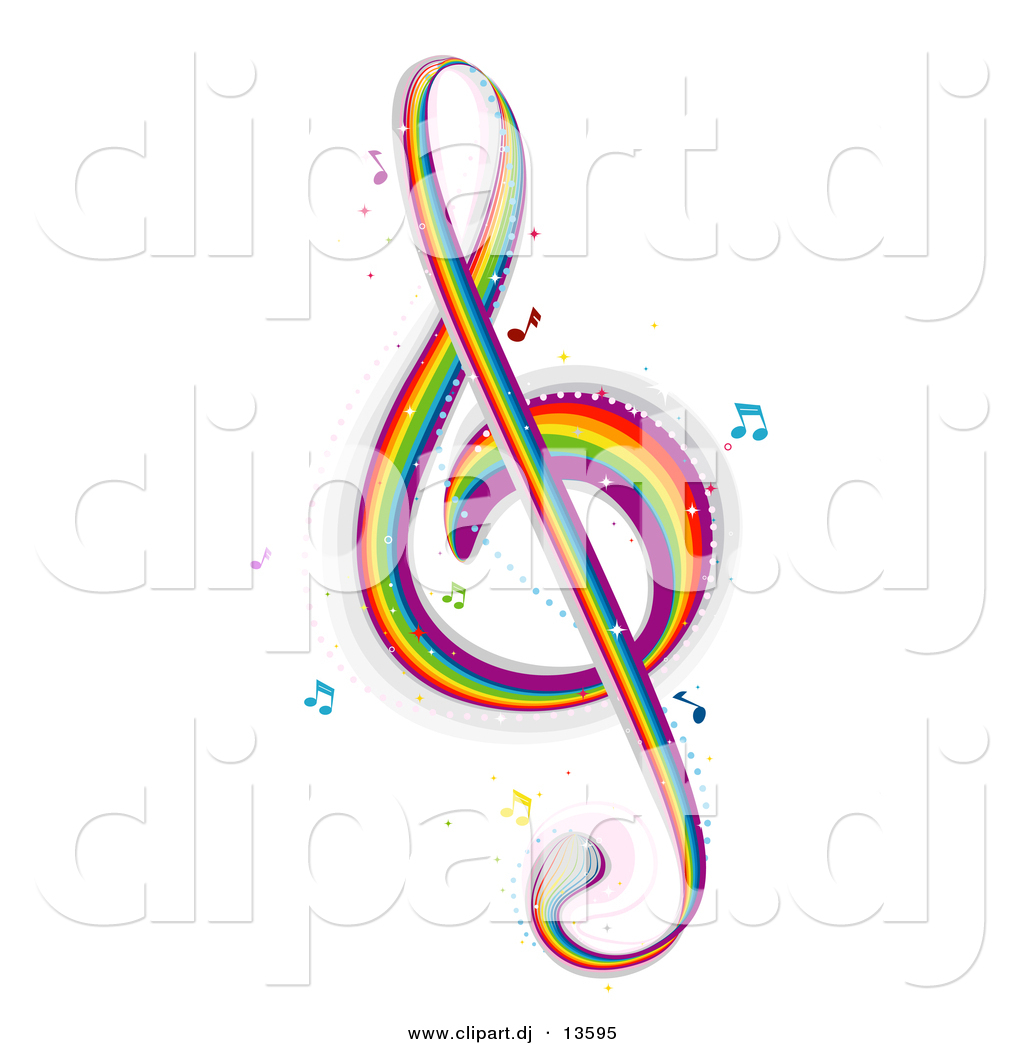 Music note rainbow music wave musical rainbow waves with music notes