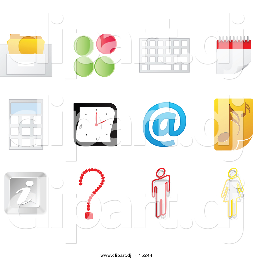 Vector Clipart of Music Note Icon Featured with 11 Office ...