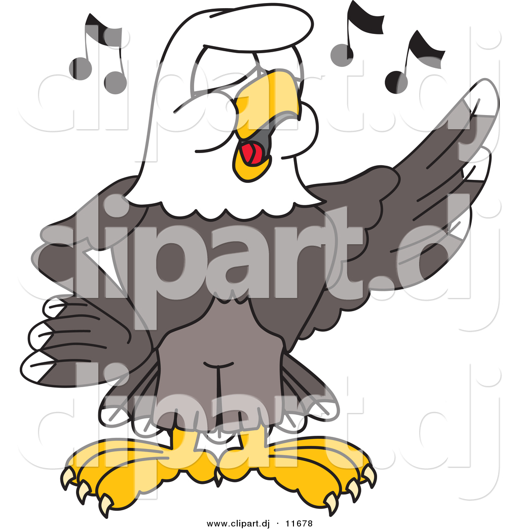vector of a cartoon bald eagle singing in choir by toons4biz 11678