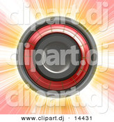 3d Clipart of a Speaker over Bursting Background by Arena Creative