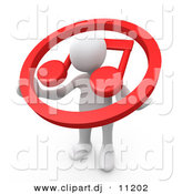 3d Clipart of a White Man Carrying Red Music Note Icon over His Shoulders by 3poD