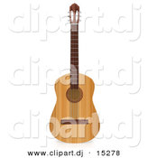 3d Clipart of an Acoustic Guitar by Andresr
