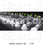 3d Clipart of an Electronic Music Mixing Desk by KJ Pargeter