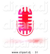 3d Vector Clipart of a Pink Floating Microphone Head by Julos