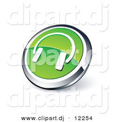 3D Vector Clipart of Green Headphones Icon by Beboy