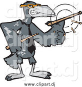 December 2nd, 2014: Cartoon Vector Clipart of a Raven Drummer Spinning His Sticks by Dennis Holmes Designs