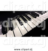 July 11th, 2015: Clipart of a 3d Black and White Piano Keyboard by Frank Boston
