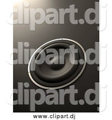 Clipart of a 3d Music Speaker on Gray by Mopic