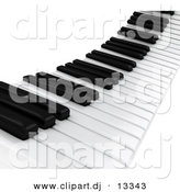 Clipart of a 3d Piano Keyboard Keys by BNP Design Studio