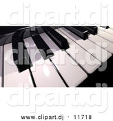 September 5th, 2015: Clipart of a 3d Shiny Piano Keyboard by Frank Boston