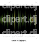 Clipart of a Background of Green and Yellow Equalizer Lines over Black by Michaeltravers