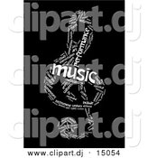 March 31st, 2016: Clipart of a Black and White Music Note Word Collage by MacX