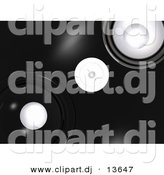 Clipart of a Black Speaker Background by
