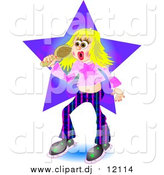 September 3rd, 2015: Clipart of a Blond Pop Star Woman Singing by Prawny