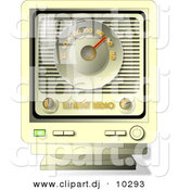 Clipart of a Cartoon Old Radio by Djart
