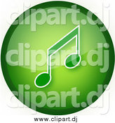 September 24th, 2014: Clipart of a Green Music Button by YUHAIZAN YUNUS