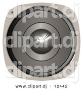 Clipart of a Metal Music Speaker over White Background by Arena Creative