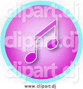 Clipart of a Purple and Music Note Icon by YUHAIZAN YUNUS