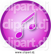 November 23rd, 2014: Clipart of a Purple Round Music Note Icon Button by YUHAIZAN YUNUS