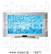 Clipart of a Widescreen Television by