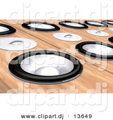 Clipart of a Wood Speaker Background by