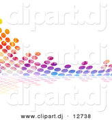 Clipart of Colorful Equalizer Circles over White Background by Arena Creative