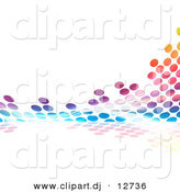 Clipart of Colorful Equalizer Dots by Arena Creative