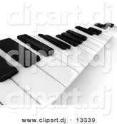 Clipart of Wavy 3d Piano Keyboard Keys by BNP Design Studio