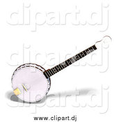 Vector Clipart of a 3d Banjo by Ralf61