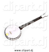 May 9th, 2015: Vector Clipart of a 3d Banjo Instrument by Ralf61