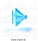 Vector Clipart of a 3d Blue Speaker and Shadow by Julos
