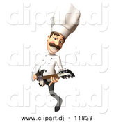 September 5th, 2015: Vector Clipart of a 3d Chef Playing an Electric Guitar by Julos