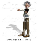 Vector Clipart of a 3d Violinist Man Resembling Einstein by Ralf61