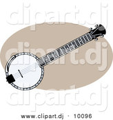 Vector Clipart of a Banjo by R Formidable