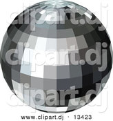 May 24th, 2016: Vector Clipart of a Black and Gray Disco Ball by Dero