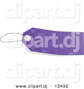 March 8th, 2016: Vector Clipart of a Blank Purple Music Note Sales Tag by Tonis Pan
