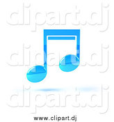 June 11th, 2015: Vector Clipart of a Blue 3d Music Note and Shadow by Julos