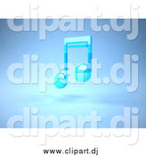 December 8th, 2014: Vector Clipart of a Blue 3d Music Note Floating by Julos