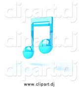 December 12nd, 2014: Vector Clipart of a Blue Floating 3d Music Note by Julos