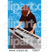 September 19th, 2016: Vector Clipart of a Boy Playing Electronic Keyboard by Mayawizard101