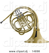 May 30th, 2016: Vector Clipart of a Brass French Horn by