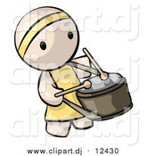 Vector Clipart of a Chinese Drummer Man by Leo Blanchette