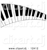 April 18th, 2016: Vector Clipart of a Curved Keyboard by Pams Clipart
