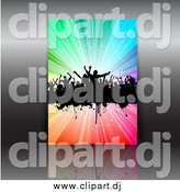 Vector Clipart of a Dance Party Flyer over Gray by KJ Pargeter