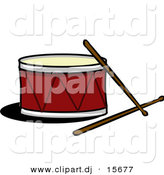 Vector Clipart of a Drum with Sticks by Cartoon Solutions